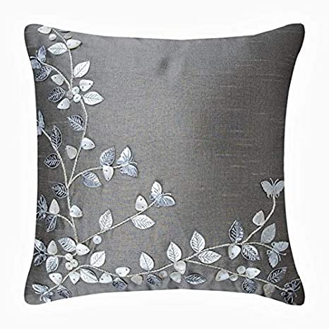 Silver Beauty - Decorativa Funda de Cojin 40 x 40 cm, Square ...