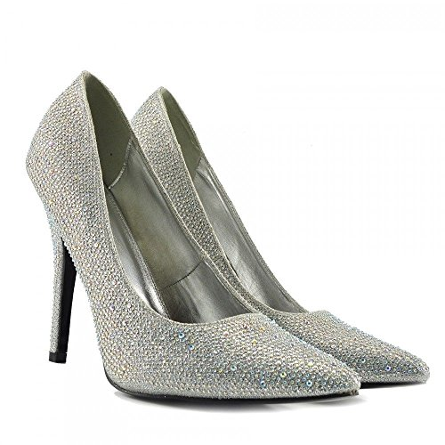 Heel 924 Court Mens Womens UK Toe Glitter 12 Sizes Dresser Pointy 11 Drag Big 9 Silver 10 Shoes HIGH New Cross BS12924 Queen R8WqffwP