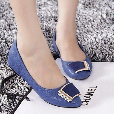 L&H estimadas del Zapato de mujer zapatos de tacón plano confort/Round Toe/Cerrado Toe mocasines Casual beige/Negro/Azul , negro-US6 / UE36 / UK4 / CN36 ...