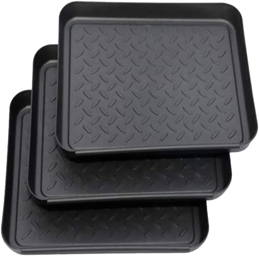 Fityle 6xWeather Boot Tray Water Resistant Plastic Utility Shoe Mat for Indoor and Outdoor Use in All Seasons