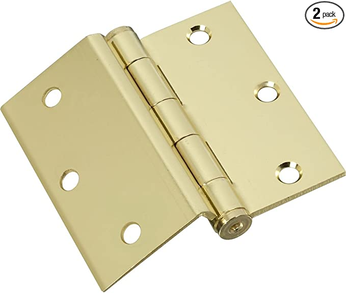 2 pack National Hardware N147-181 V550 Chest Hinges in Brass