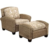 Home Styles Cabana Banana II Chair and Ottoman, Honey Finish