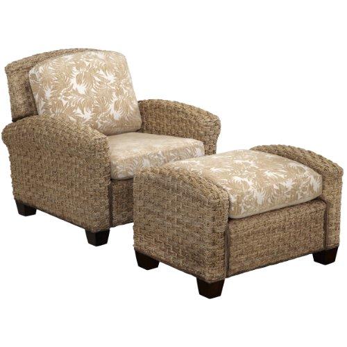 Banana Leaf Chair (Home Styles Cabana Banana II Chair and Ottoman, Honey Finish)
