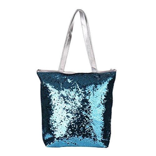 (YJYDADA Bag,Women Girl Sequins Glitter Mermaid Backpack School Travel Rucksack Shoulder Bag (C))