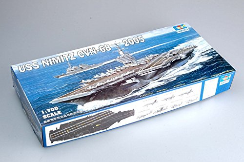 Trumpeter 1/700 USS Nimitz CVN68 Aircraft Carrier 2005 Model Kit