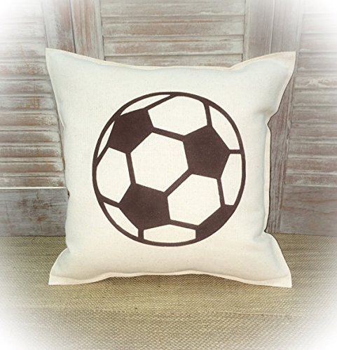 Decorative Pillowcase with a Soccer ball silhouette Sports decor Sport Pillowcase Gift for Friend - Dummies Gift Wrapping For