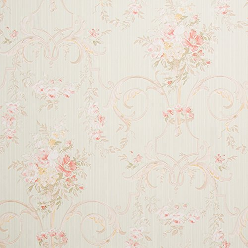 Shabby Chic Wallpaper for Walls - Double Roll -Romosa Wallcoverings LL7543 (Chic Wallpaper)