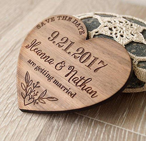 f4a73bcd3bb23 Amazon.com: Save the dates, wooden save the date magnets, heart save ...