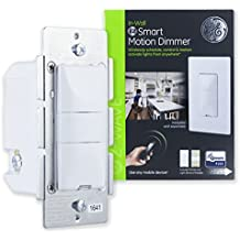 GE Z-Wave Plus Smart Lighting Control Motion Sensor Dimmer Switch, In-Wall, Vacancy / Occupancy Sensor, White & Light Almond Buttons, Zwave Hub Required- Works with SmartThings Wink & Alexa, 26933