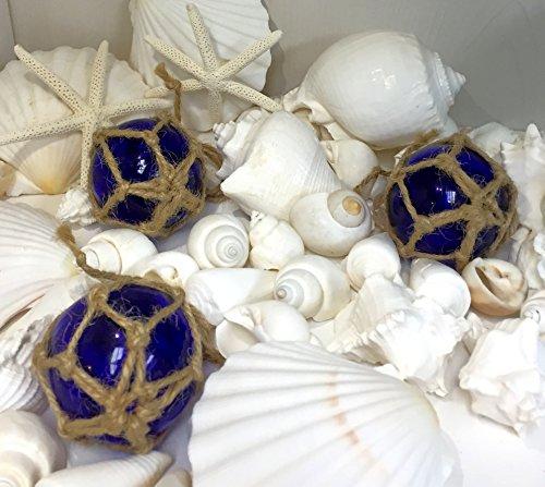 Cobalt Glass Float Balls | (Set of 3) Fishing Buoy Balls 2