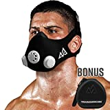 Training Mask Original [Black + Free Case] Simulation Workout Mask, Peak Fitness Mask, Running Mask, Breathing Mask, Resistance Mask, Cardio Mask, Boost Intensity for Training – Sport [Medium]