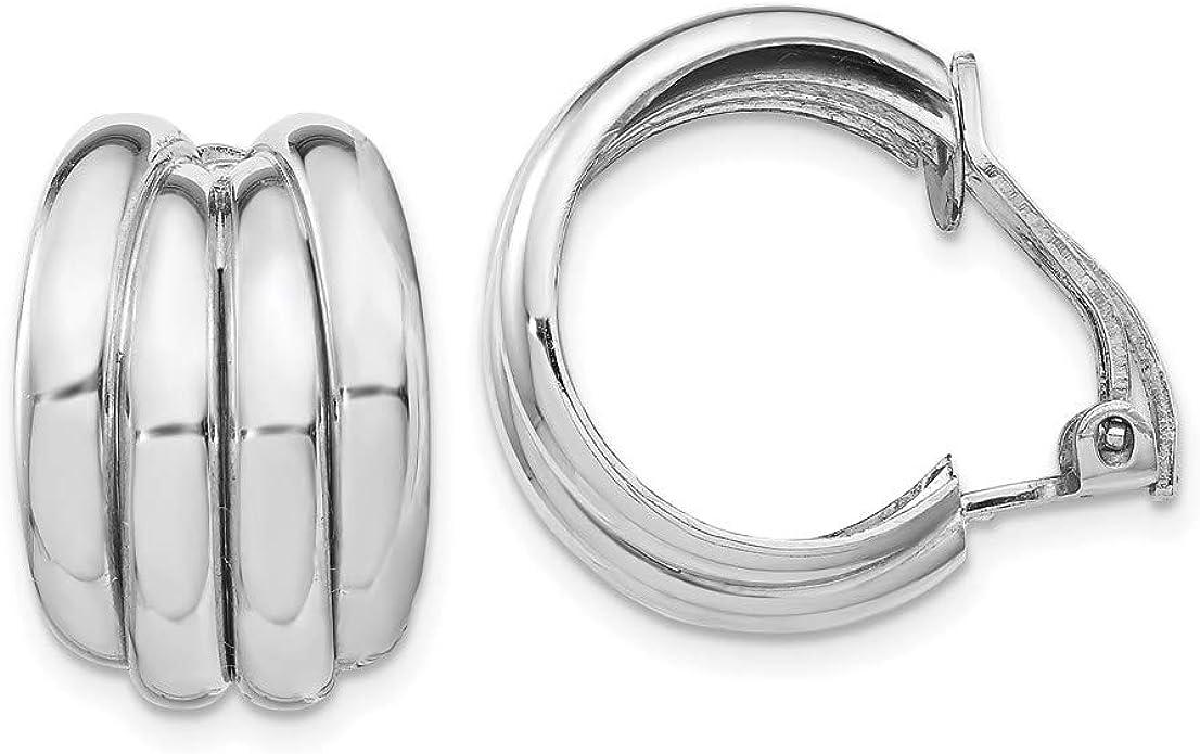 """#4 STERLING SILVER 925 PIERCED LARGE 2-3//8/"""" HOOP EARRINGS MADE IN CZECH"""