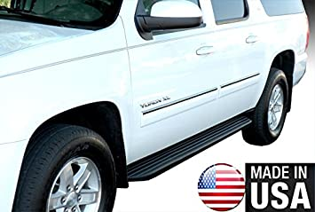 Amazon Com Made In Usa Compatible With 2010 2014 Chevy Suburban Gmc Yukon Xl Body Side Molding Trim Top 1 Wide 4pc Overlay Automotive