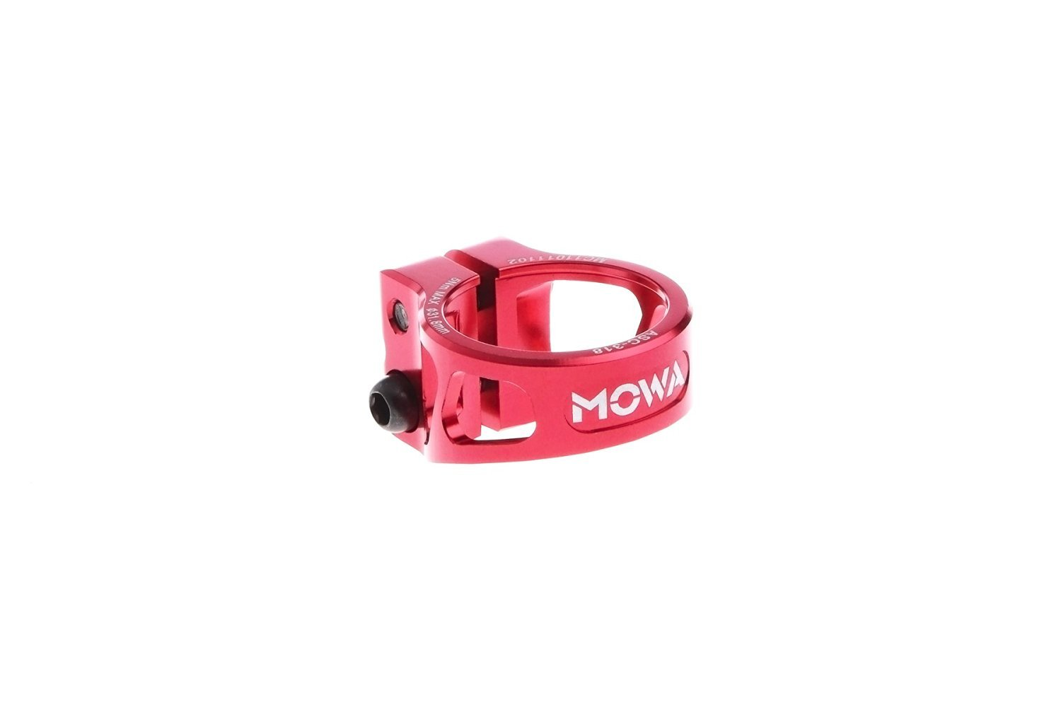 MOWA ASC Road Cyclocross CX Mountain Bicycle MTB Bike Cycling Alloy Seatpost Clamp 31.8 and 34.9 (Red, 31.8mm) by MOWA