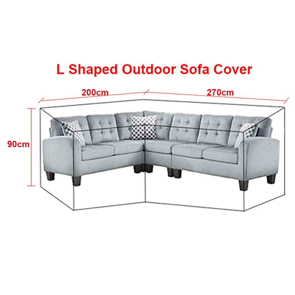 Lounge Abdeckung L Form Mit Spannschnuren Unten 210d