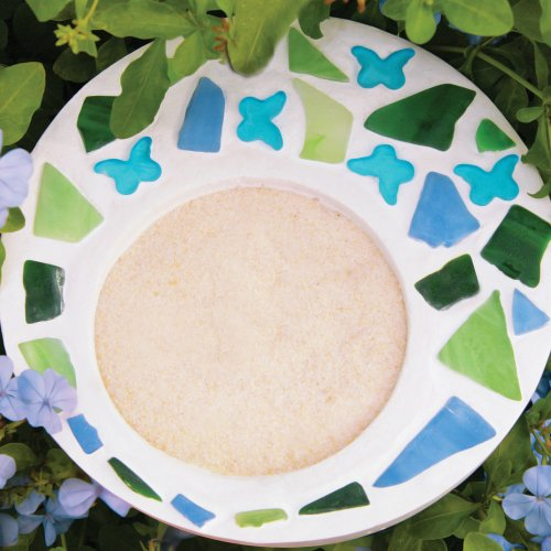 JENNIFERS MOSAICS Mosaic Butterfly Feeder Kit for Artwork