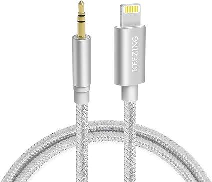 Amazon.com: Cable auxiliar para coche, cable auxiliar ...