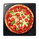 Steel Pizza Baking Stone - 15'' Square Low Carbon Steel Sheet - Ultra Conductive 1/4'' Thick Baking Surface Plate - Doubles as Stovetop Griddle - Restaurant Quality Crisp & Beautiful Crust in Home Oven