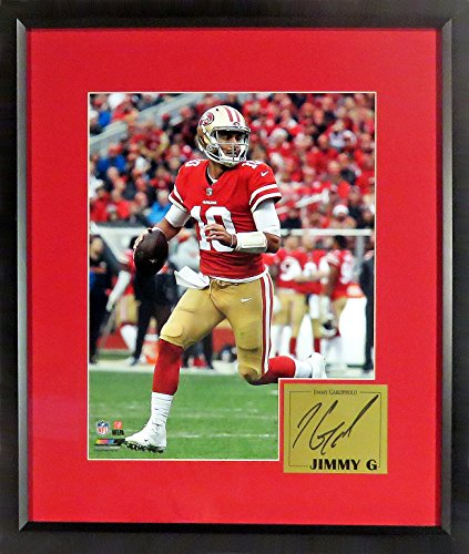 Sf 49Ers Jimmy Garoppolo  Jimmy G   11X14 Photograph  Sga Signature Engraved Plate Series  Framed