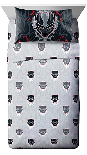 Jay Franco Marvel Black Panther Wakanda 3 Piece Twin Sheet Set - Super Soft and Cozy Kid's Bedding - Fade Resistant Polyester Microfiber Sheets (Official Marvel Product)