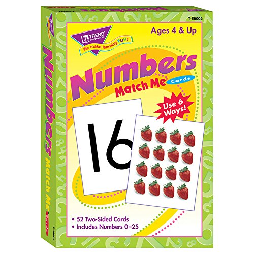 Trend Enterprises Numbers 0-25 Match Me Cards