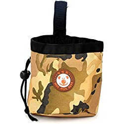 Aoaoingy Dog Treat Training Pocket Pouch nylonLining Poop Bag with Waist Clip and Drawstring