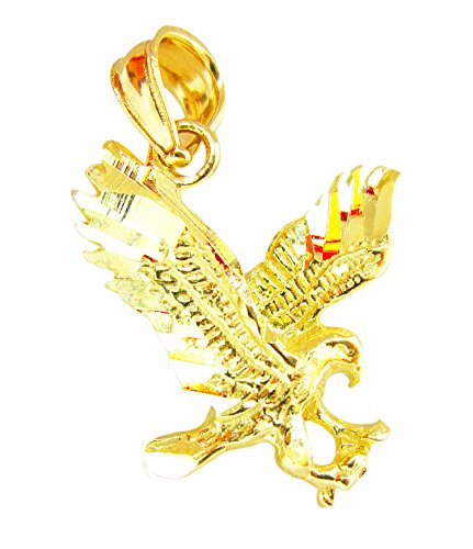 10K Yellow Gold American Eagle Pendant Men's Women's Eagle - Gold 10k Eagle Pendant