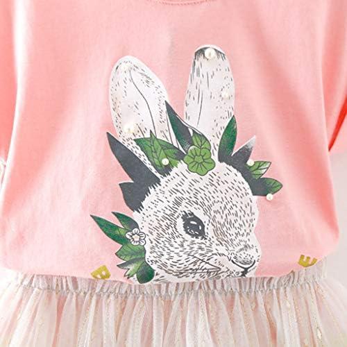 Camiseta con Estampado de Conejo Tops + Falda de tutú de Tul para niñas bebés Conjunto de Ropa Camisa Manga Corta Rosa 5-6 años: Amazon.es: Ropa y accesorios