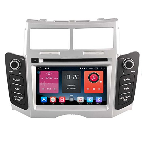 Autosion In Dash Android 6.0 Car DVD Player Sat Nav Radio Head Unit GPS Navigation Stereo for Toyota Yaris 2005-2011 Toyota Vios 2007-2011 Support Bluetooth SD USB Radio WIFI DVR 1080P by Autosion