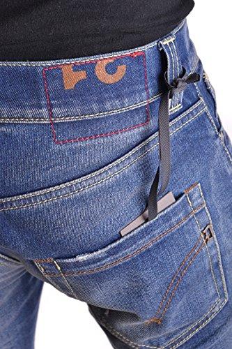 Dondup Homme MCBI100033O Bleu Coton Jeans