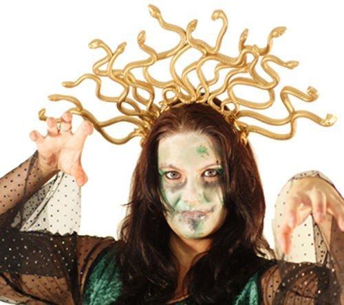 Medusa Costume Girl (Halloween-Stage-Dance-Panto-Medusa Headdress-Greek Mythology MEDUSA SNAKE HEADDRESS - Fancy Dress Accessory)