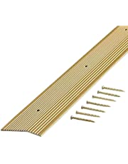 M-D Building Products 79152 Fluted 1-3/8-Inch by 72-Inch Carpet Trim, Satin Brass