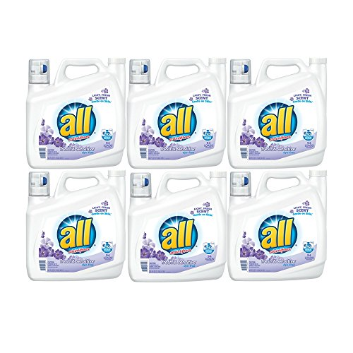 all Liquid Laundry Detergent, Fresh & Sensitive, 141 Ounces, 94 Loads (6 Pack) by all
