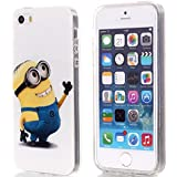 """for iPhone 6 - Depicable Me Minion Looking TPU Rubber Silicone Gummy Protector Skin Case Cover [Apple iPhone 6 -- 4.7"""" inch Only]"""