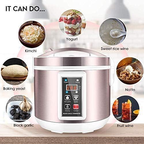 4 YANG Fermentador de ajo negro 5L Fabricante de AjosHealth Food Maker Control inteligente completamente automático Cocina de bricolaje con múltiples dientes de ajo