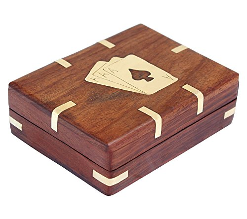 Hind Handicrafts Classic Handcrafted Vintage Style Deck of Card with Wooden Box / Birthday Gift / Antiques Collectibles / Travel Game (4.5x3.5x1.5 inch) (Bible Character Costumes For Adults)