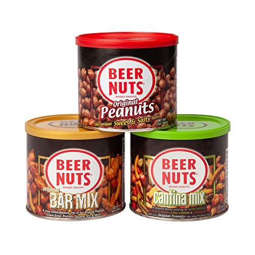 BEER NUTS Bar Snack Favorites | 12 oz. Original Peanuts, 9 oz. Original Bar Mix, and 9 oz. Cantina Mix Cans Gift Box Review