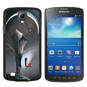 Arte Deep Love Pintura Significado- Metal de aluminio y de plástico duro Caja del teléfono - Negro - Samsung i9295 Galaxy S4 Active / i537 (NOT S4)