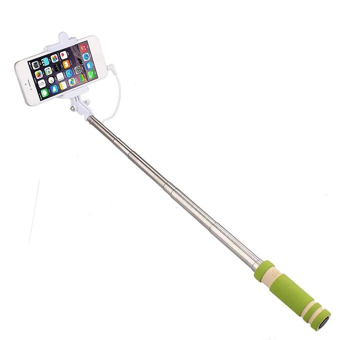 iVoltaa Wired Selfie Stick  Green  Selfie Sticks
