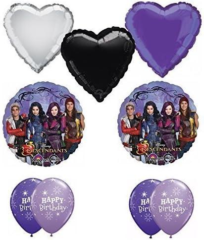 Amazon.com: Disney Los Descendientes Feliz cumpleaños globo ...