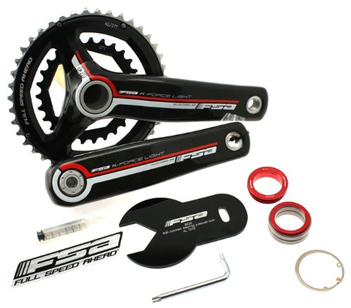 FSA K-FORCE LIGHT 386 BB30 40/27t 175mm 9 Spd Carbon Bike Bicycle Crankset NEW