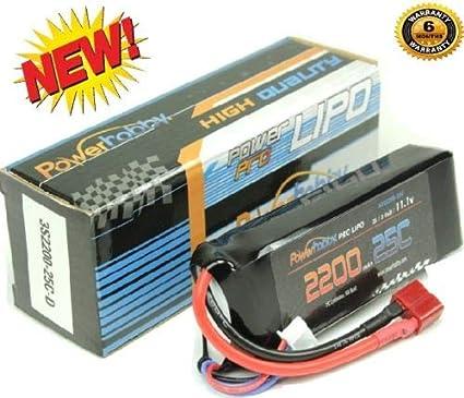 Powerhobby 3S 11.1V 2200mAh 25C Lipo Battery Pack w Deans Plug 2 PACK