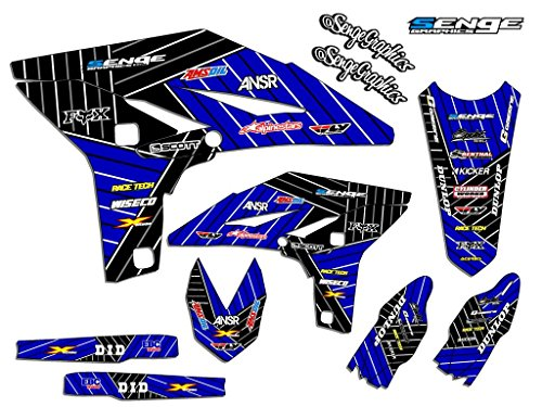Compatible with Yamaha 2000-2008 TTR 90, Race Series Blue Graphics Kit ()