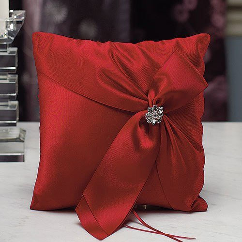 Beverly Clark Monroe Collection Ring Pillow - Ruby