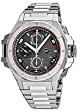 Snyper Ironclad Mens Automatic Chronograph Watch Stainless Steel Band - 44mm Analog Grey Face with Day Date Sapphire Crystal - Swiss Made Military Chronograph Watches for Men Automatic 50.010.0M