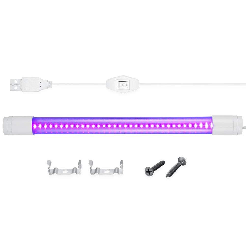 5V UV LED Black Light for Bedroom, WOWTOU 360-degree Light Direction Adjustable USB Powered 5W Portable 395nm Black Lights for Blacklight Poster and UV Arts, Ultraviolet Curing, Pets Urine Detection