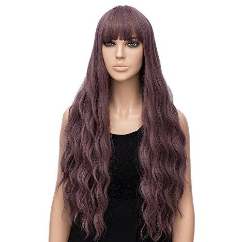 (netgo Women's Wig Long Fluffy Curly Wavy Hair Wigs for Girl Heat Friendly Synthetic Wigs (Light)