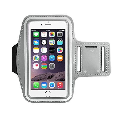 Insten Outdoor Sports Running Armband with Key Holder Compatible with Apple iPhone X/8 Plus/Samsung Galaxy S9/S9+/S8/S8+/Note 5 (Up to 6.49