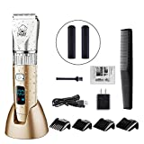 HATTEKER Dog Grooming Clippers Cordless Pet Hair Clippers Trimmer...