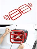 Automotive : Jeep Renegade Tail Light Cover,Metal Taillights Lamp Protector Guard Cover Trim For Jeep Renegade 2015 2016 Set Of 4 (Red))